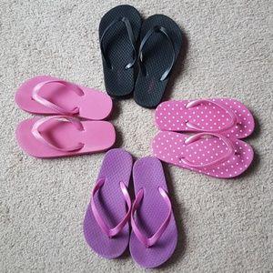 Other - Lot of 4 Girls Flip flops